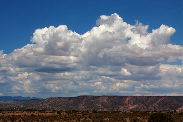Clouds Art Print featuring the photograph Clouds Over A Mesa by Paul M Littman