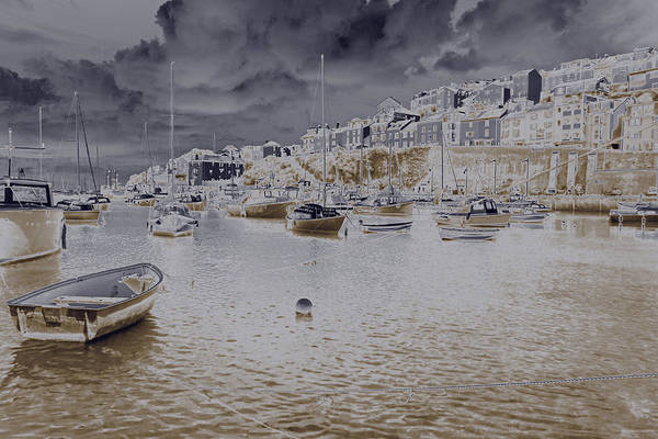 Texture Art Print featuring the photograph Clouds Over Brixham by Chris Davis