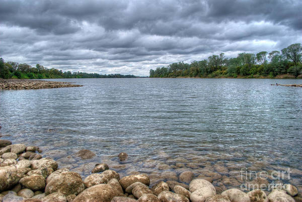 River Art Print featuring the photograph Clouds Over The American River by Diego Re