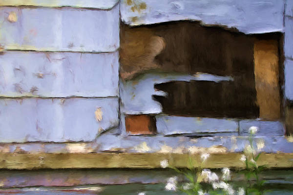 Siding Art Print featuring the mixed media Colorful Siding by Renee Skiba