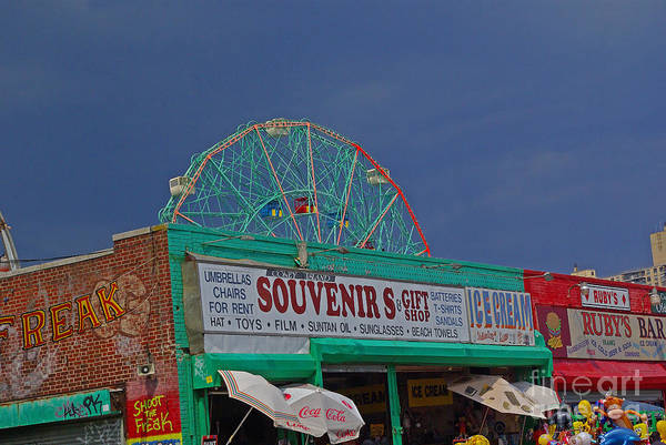 Coney Island Art Print featuring the photograph Coney Island Facade by Rich Walter
