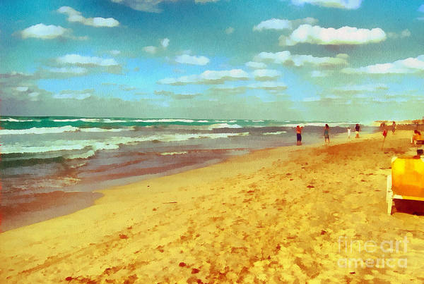 Odon Art Print featuring the painting Cuba Beach by Odon Czintos