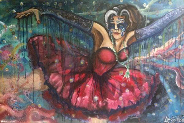 Ballerina's Art Print featuring the painting Dance Of The Fireflies by Cass Wilson