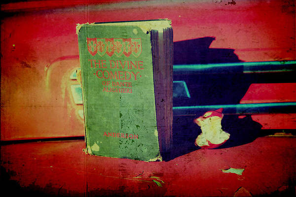 Vintage Book Art Print featuring the photograph Dante's Snack by Toni Hopper