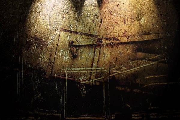 Metal Art Print featuring the digital art Dark Door by Janet Kearns