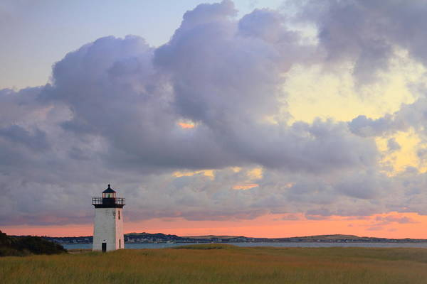 Lighthouse Art Print featuring the photograph Dawn At Long Point Lighthouse by Roupen Baker