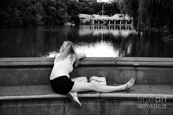 Black And White Art Print featuring the photograph Day Dreamer by Paul Ward
