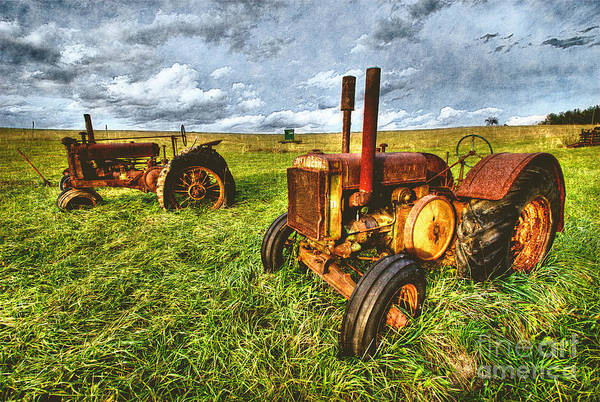 North Carolina Art Print featuring the painting Deere 'ol Tractor Iv by Dan Carmichael