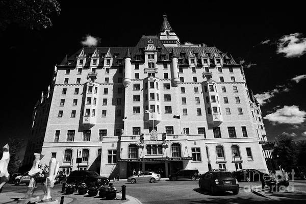 Delta Art Print featuring the photograph delta bessborough hotel downtown Saskatoon Saskatchewan Canada by Joe Fox