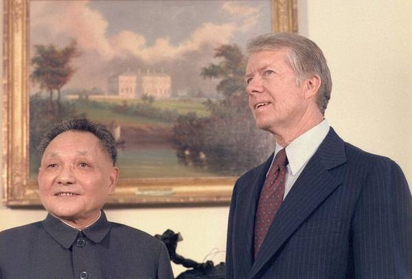 History Art Print featuring the photograph Deng Xiaoping And Jimmy Carter by Everett