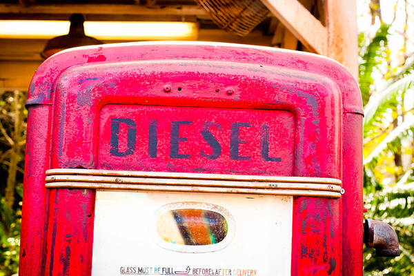 Abandoned Art Print featuring the photograph Diesel Pump by Tom Gowanlock
