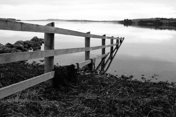 Irish Art Print featuring the photograph Disappearing Fence. by Martine Maclennan