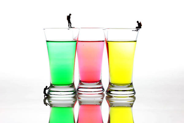 Ice Art Print featuring the photograph Diving In Colorful Water by Paul Ge