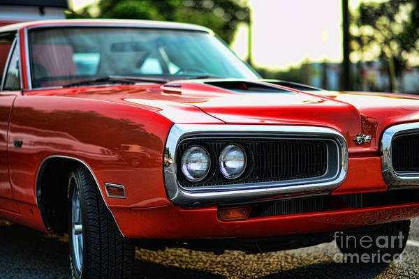 1970 Dodge Super Bee Print featuring the photograph Dodge Super Bee Classic Red by Paul Ward