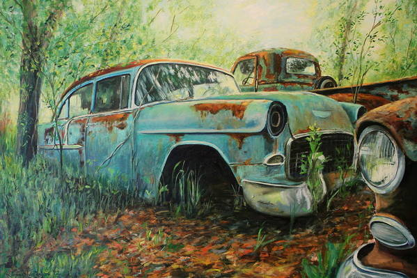 Chevrolet Art Print featuring the painting Donor by Daniel W Green