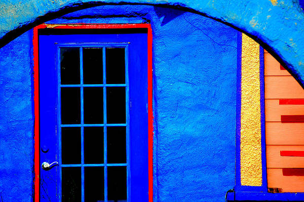 Blue Art Print featuring the photograph Door And Keys by David Pike