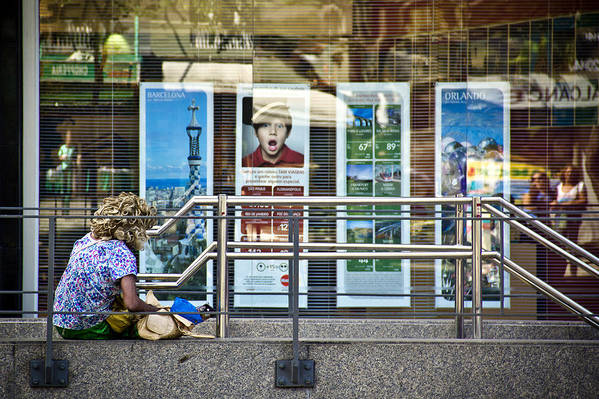 Woman Beggar Art Print featuring the photograph Dreams by Stefano Figalo