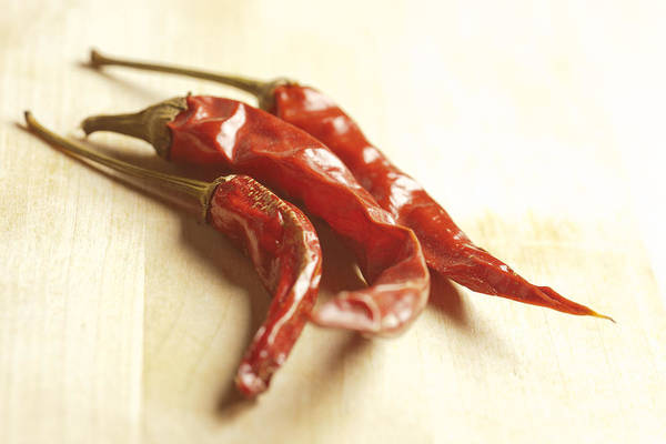 Horizontal Art Print featuring the photograph Dried Chili Peppers by Brian Yarvin