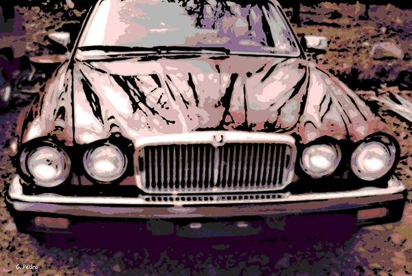 Early Art Print featuring the photograph Early Jaguar Xj6 by George Pedro