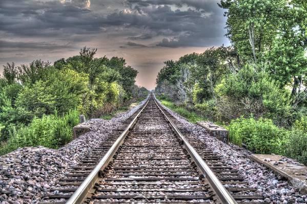 Traintracks Art Print featuring the photograph Endless Tracks by Thomas Klyn