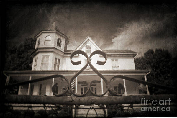 Gate Art Print featuring the photograph Enter If You Dare by Jane Brack