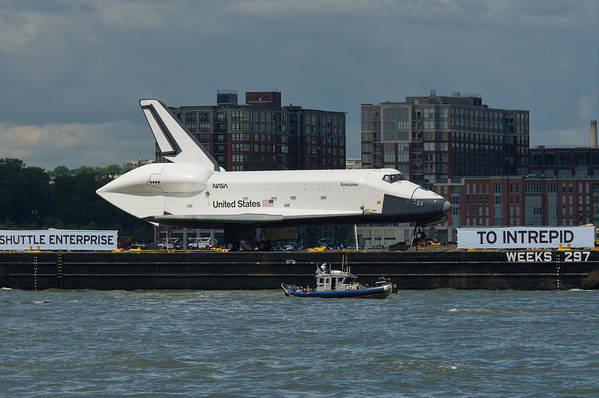 Space Shuttle Art Print featuring the photograph Enterprise To Intrepid by Gary Eason