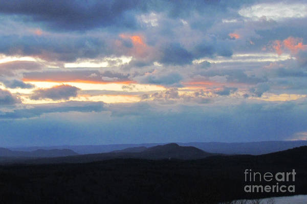 Sunset Art Print featuring the photograph Evening Sky Over The Quabbin by Randi Shenkman
