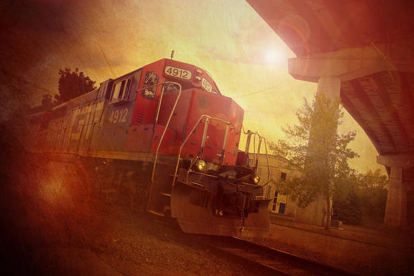 Train Art Print featuring the photograph Express Train by Joel Witmeyer