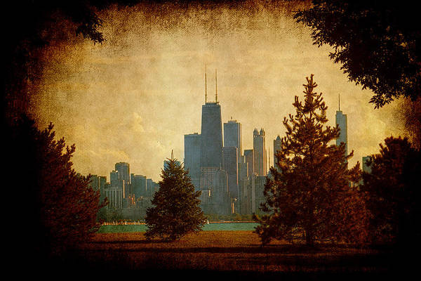 Lake Art Print featuring the photograph Fall In The City by Milena Ilieva
