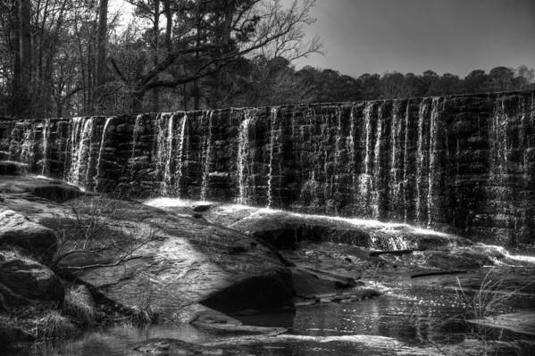 Landscapes Art Print featuring the photograph Falls At Yates Mill by Christopher McPhail
