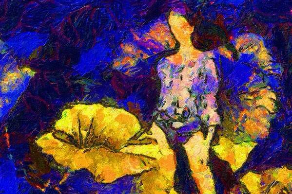 Impressionist Fashion Painting Art Print featuring the painting Fashion 205 by Jacques Silberstein