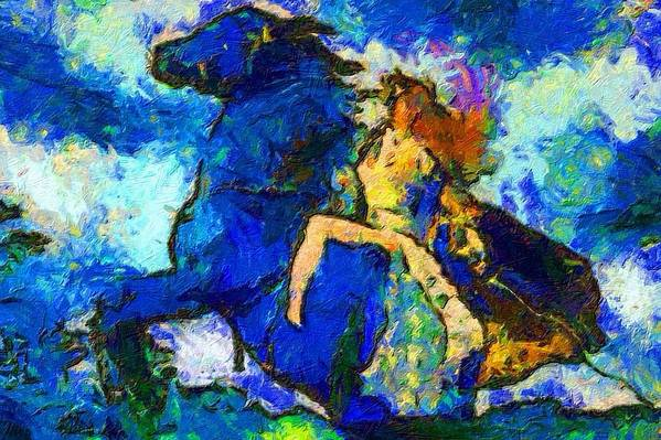 Impressionist Fashion Painting Art Print featuring the painting Fashion 312 by Jacques Silberstein