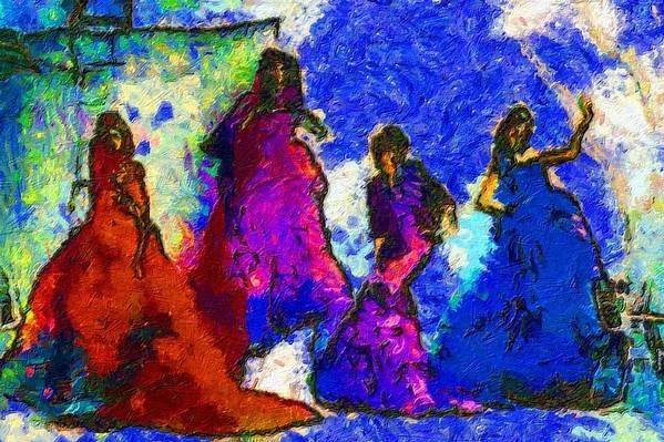 Impressionist Fashion Painting Art Print featuring the painting Fashion 320 by Jacques Silberstein