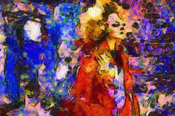 Impressionist Fashion Painting Art Print featuring the painting Fashion 322 by Jacques Silberstein