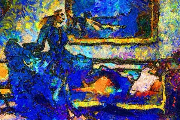 Impressionist Fashion Painting Art Print featuring the painting Fashion 327 by Jacques Silberstein