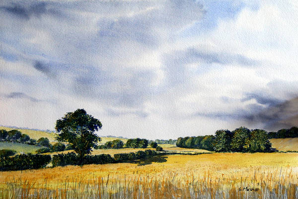Traditional Painting Art Print featuring the painting Fields Of Gold by Glenn Marshall