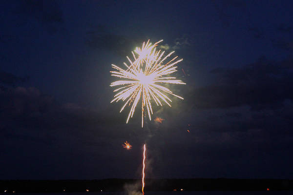 Firework Art Print featuring the photograph Firework Explosion by Robbie Basquez