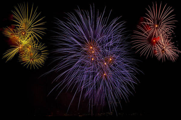Fireworks Art Print featuring the photograph Fireworks by Joana Kruse