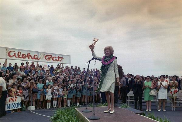 History Art Print featuring the photograph First Lady Campaigning In Hawaii. A by Everett
