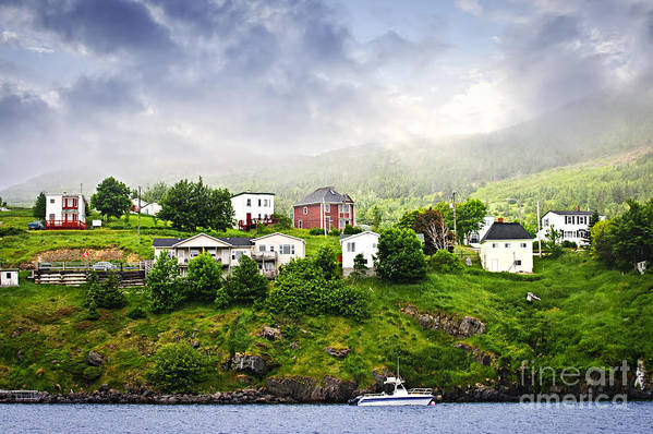 Fishing Art Print featuring the photograph Fishing Village In Newfoundland by Elena Elisseeva