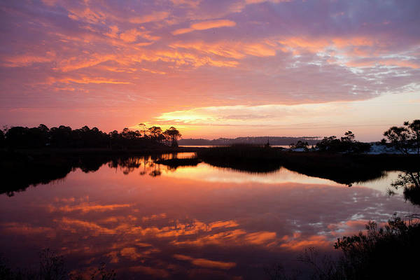 Sunrise Art Print featuring the photograph Florida Sunrise by Charles Warren