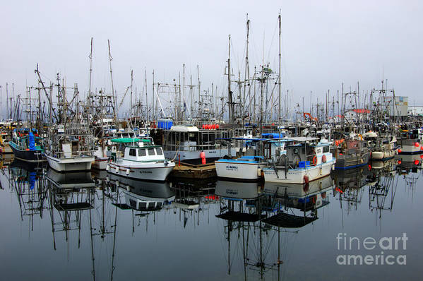 Fishing Boats Art Print featuring the photograph French Creek by Bob Christopher