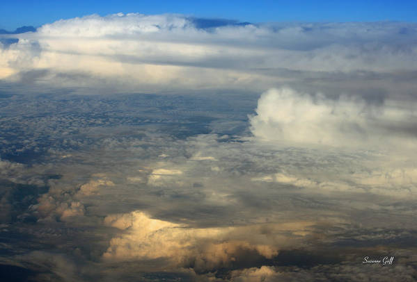 Cloud Art Print featuring the photograph From Above by Suzanne Gaff