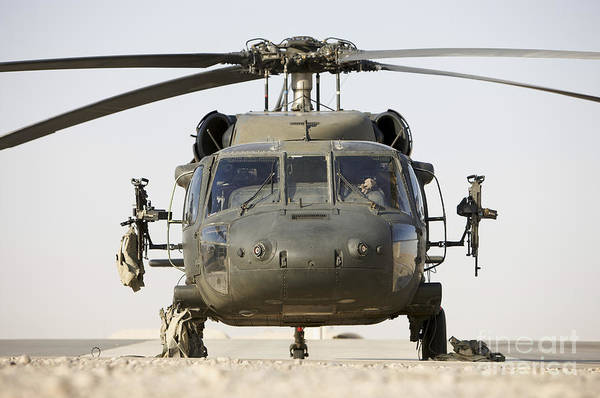 Aviation Art Print featuring the photograph Front View Of A Uh-60l Black Hawk by Terry Moore