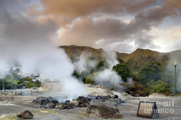 Azores Art Print featuring the pastel Furnas by Andre Goncalves