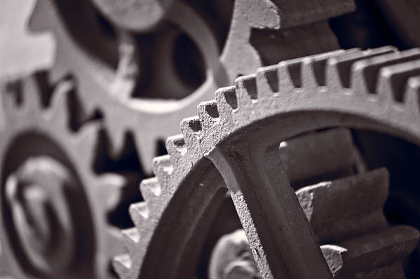 Gear Print featuring the photograph Gears Number 3 by Steve Gadomski