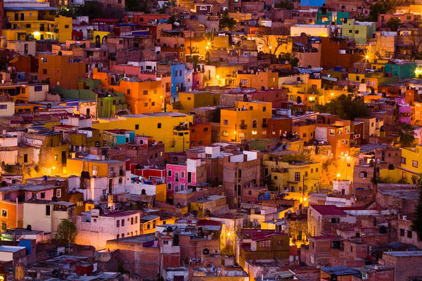 Cityscape Art Print featuring the photograph Glowing Colors by Eggers Photography