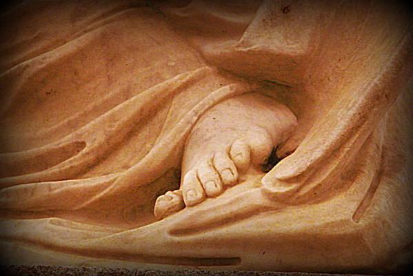 Foot Art Print featuring the digital art Granite Foot by Sandra Timmons