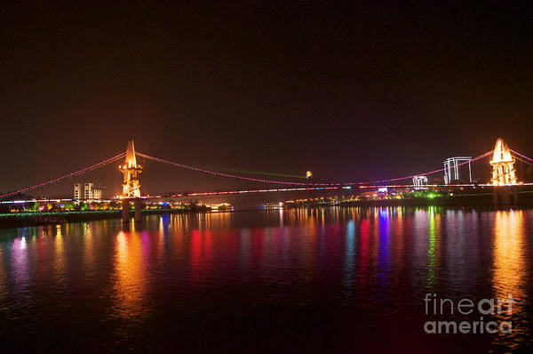 Guilin Art Print featuring the photograph Guilin At Night by Sean Stauffer