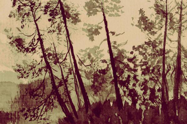 Art Print featuring the painting Harmony Ridge by Kitty Meekins